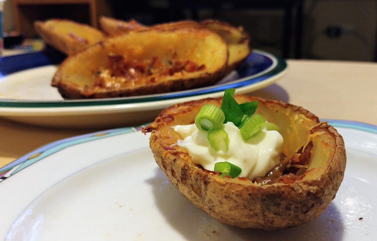 Easy Bacon Baked Potato Skins Recipe